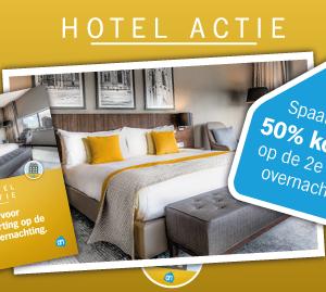 Spaar voor 50% korting op de 2e hotelovernachting!
