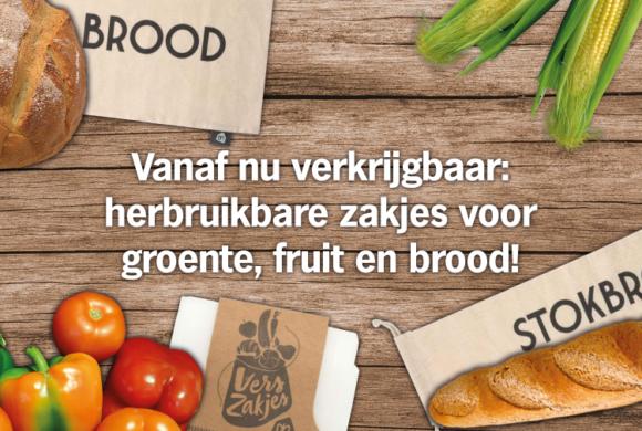 Vanaf nu verkrijgbaar: herbruikbare zakjes voor groente, fruit en brood!