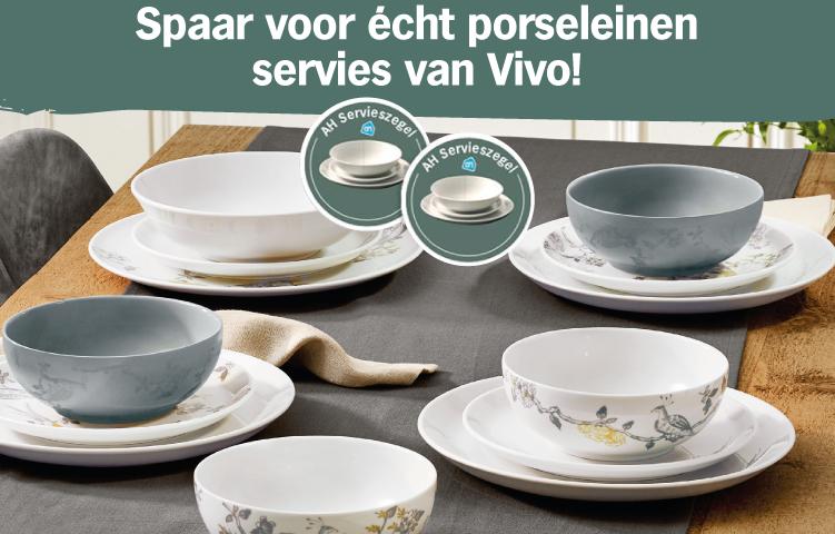 Spaar voor écht porseleinen servies van Vivo!
