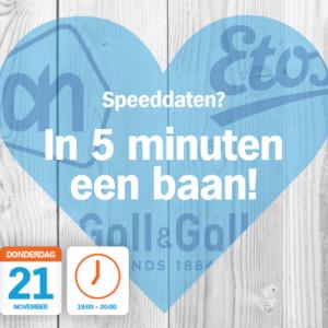Kom op 20 en 21 november met ons speeddaten!