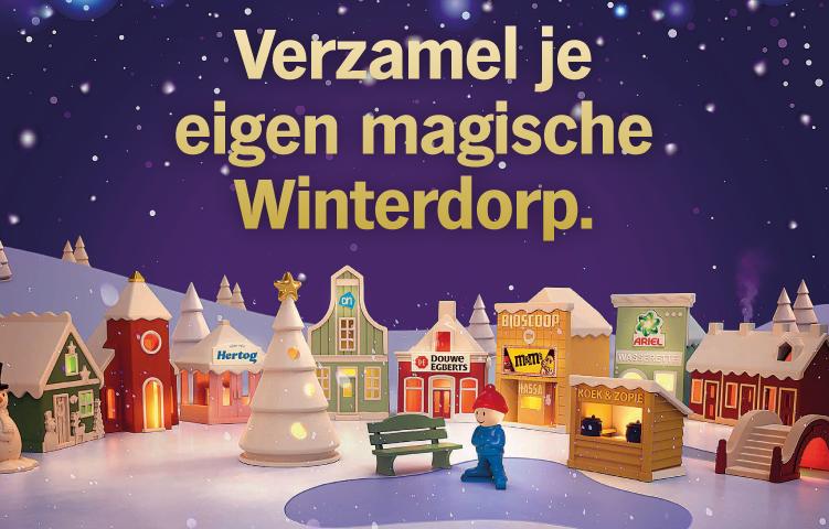 Verzamel je eigen magische Winterdorp!