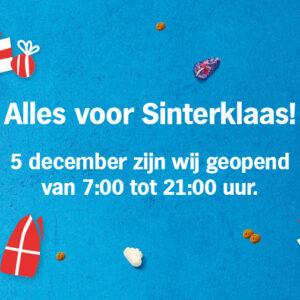 Openingstijden Sinterklaas