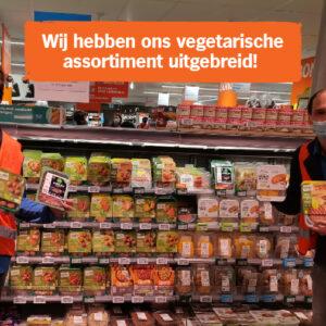 Uitbreiding vegetarisch assortiment