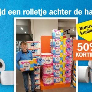 Toiletpapier aanbieding
