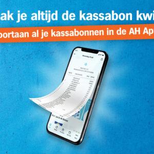 Digitale kassabon in de AH app