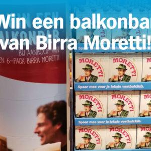 Maak kans op een Birra Moretti balkonbar!
